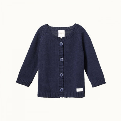 Nature Baby Merino Knit Cardigan - Deep Blue