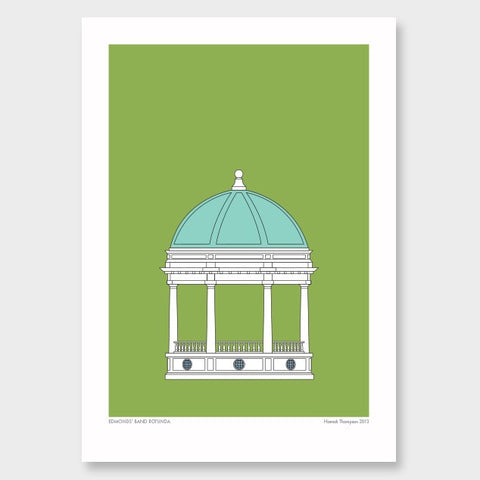 Hamish Thompson print - Edmonds' Band Rotunda