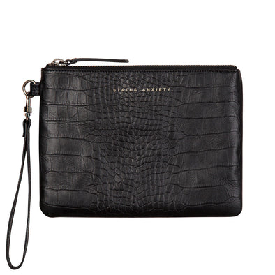 Status Anxiety Clutch - Fixation - Black Croc