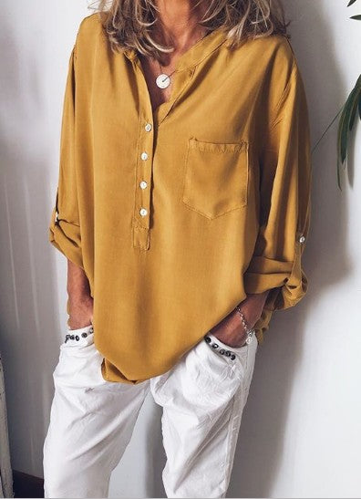 Spring\Summer Chiffon Blouses Long Sleeve