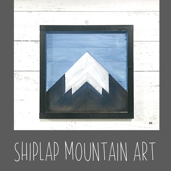Mountain Shiplap Art Kit