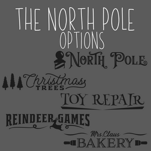 The North Pole - Porch sign Kit