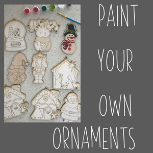 Paint Your Own Ornaments Kit