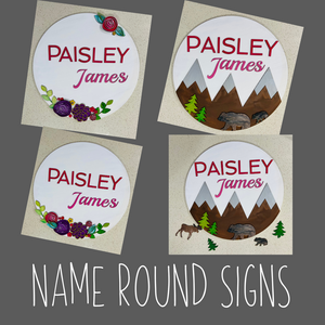 Room Round Sign Kit