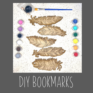 DIY Feather Bookmarks