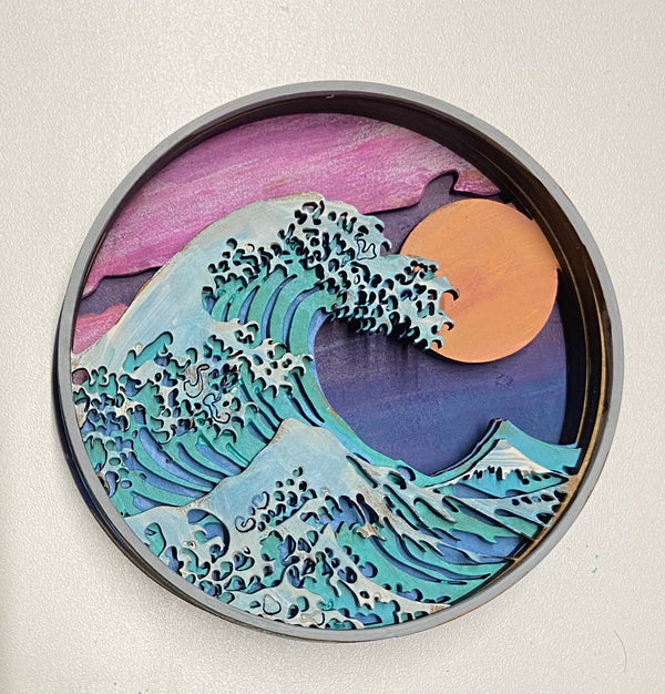 Shadow box- Ocean Wave Kit