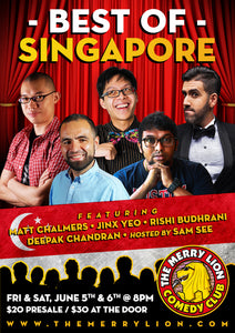 5 & 6 June - 8pm - The Very Best of Singapore!