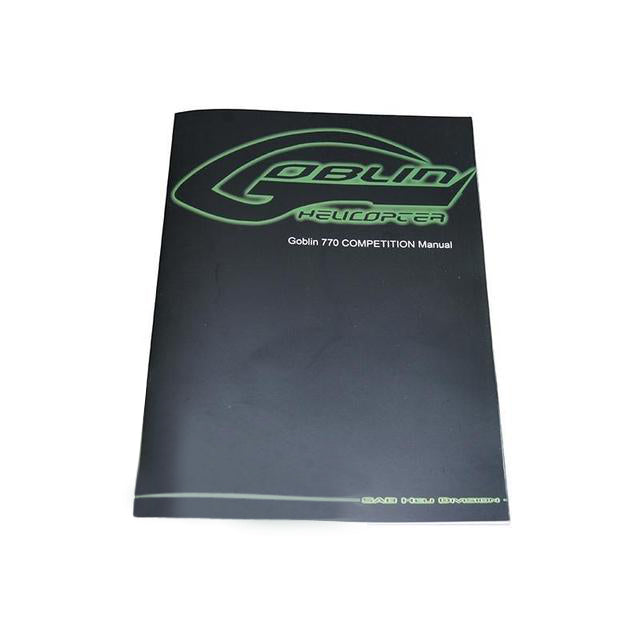 HA910-S Goblin 770 Competition Instruction Manual-Mad 4 Heli