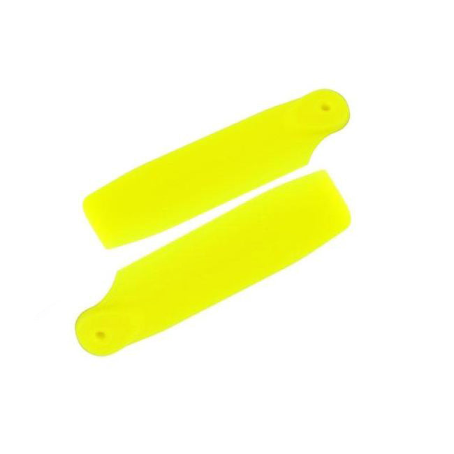 H0828-Y-S - YELLOW PLASTIC TAIL BLADE 50MM-Mad 4 Heli