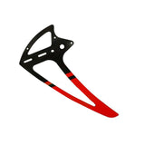 H0281-S Goblin 500 Carbon Fiber Vertical Fin Red-Mad 4 Heli
