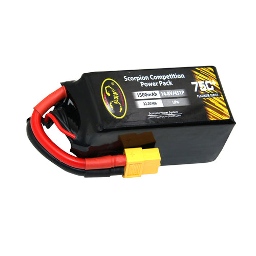Scorpion Power 1500mAh 75C 14.8V 4S with XT60