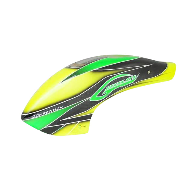 H0357-S Canomod Airbrush Canopy Yellow/Green - Goblin 700 Competition-Mad 4 Heli