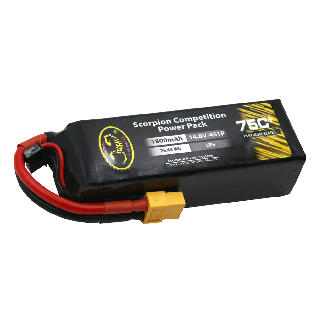 Scorpion Power 1800mAh 75C 14.8V 4S with EC3