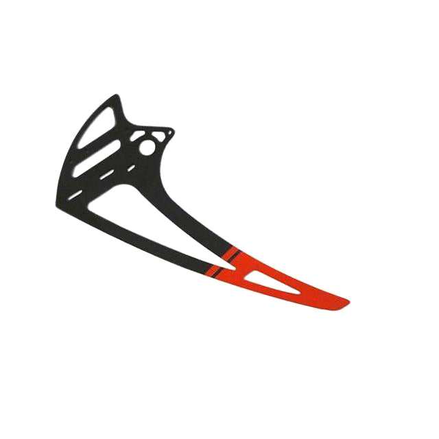 Carbon Fiber Vertical Fin - RED (1pc) - Goblin 700/770 H0117-S