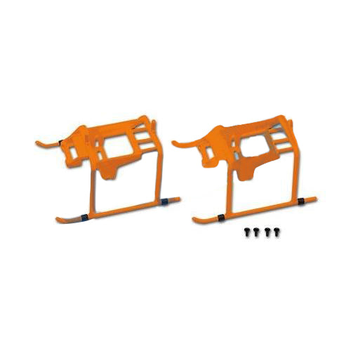 150 Landing Skid-Orange H15F001XO-Mad 4 Heli