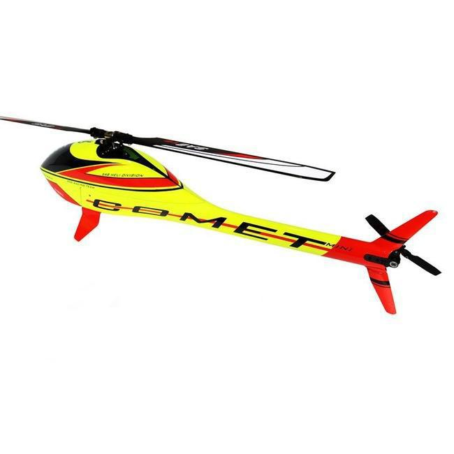 SG283 - GOBLIN MINI COMET (YELLOW- RED) (WITH COMPETITION MOTOR, SAB ESC 60A)-Mad 4 Heli
