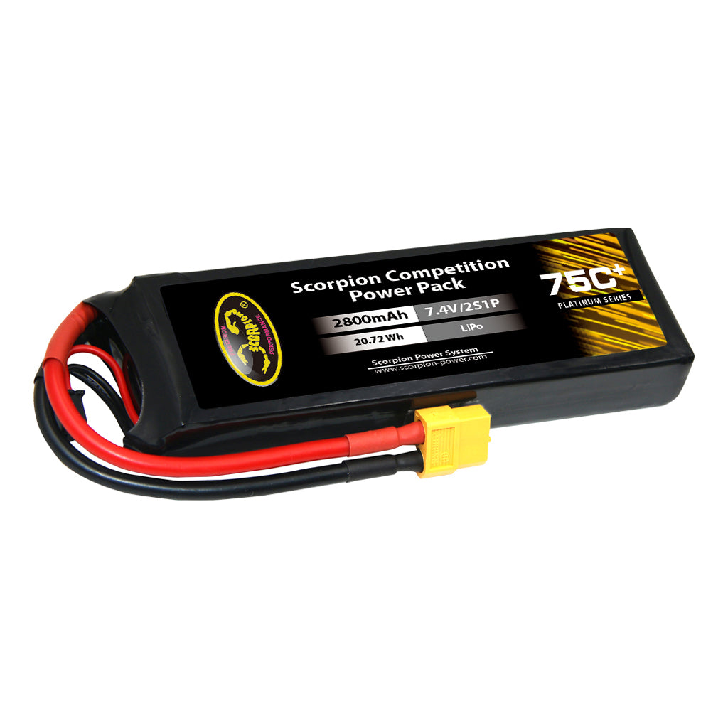Scorpion Power 2800mAh 75C 7.4V 2S with Dean