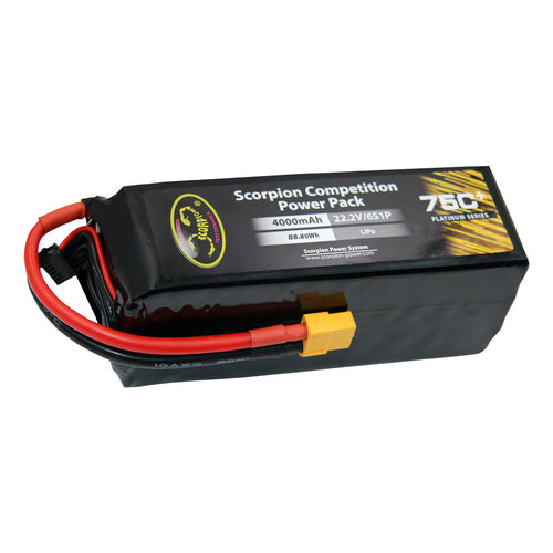 Scorpion Power 4000mAh 75C 22.2V 6S with EC5