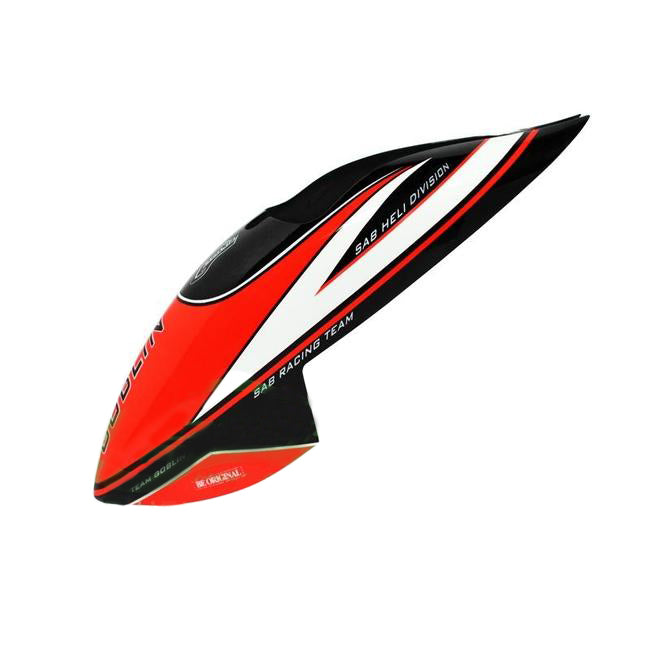 H0922-S - MINICOMET CANOPY BLACK/RED-Mad 4 Heli