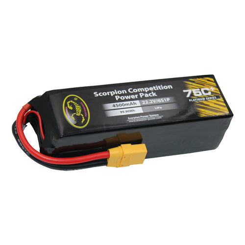 Scorpion Power 4500mAh 75C 22.2V 6S with EC5