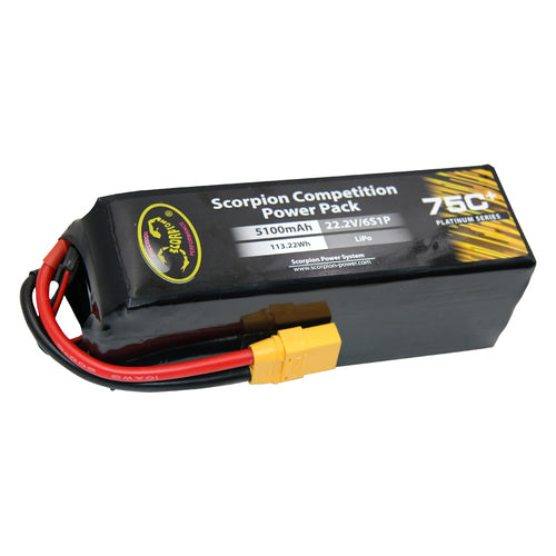 Scorpion Power 5100mAh 75C 22.2V 6S with EC5 (Preorder)