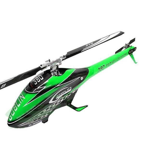 SG387 - SAB GOBLIN 380 CARBON/GREEN (WITH 380MM BLACK LINE MAIN BLADES)