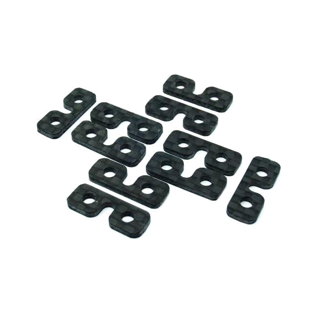 Goblin 500/570/630/700/770 Carbon Fiber SERVO SPACER (10pcs) H0075-S-Mad 4 Heli
