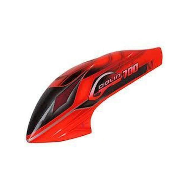 Goblin 700 Canomod Furious RED airbrush canopy H0115-S-Mad 4 Heli