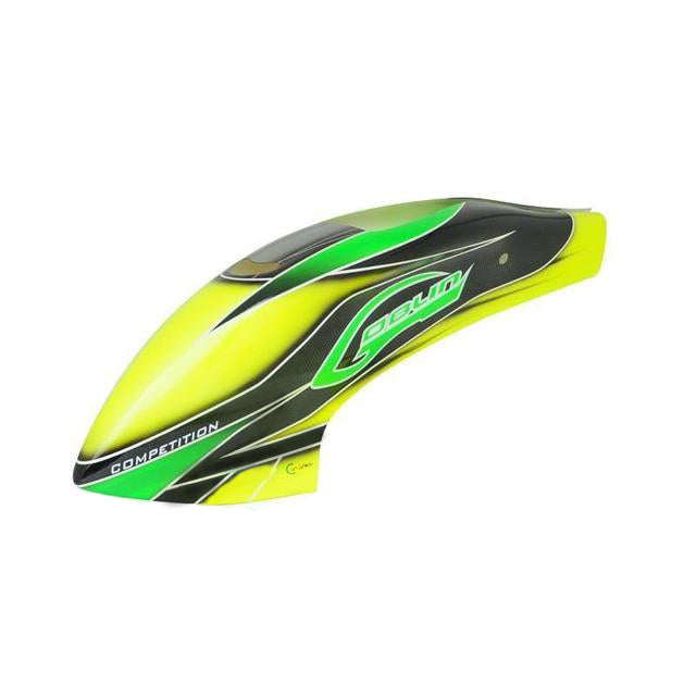 H0365-S Canomod Airbrush Canopy Yellow/Green - Goblin 630 Competition-Mad 4 Heli