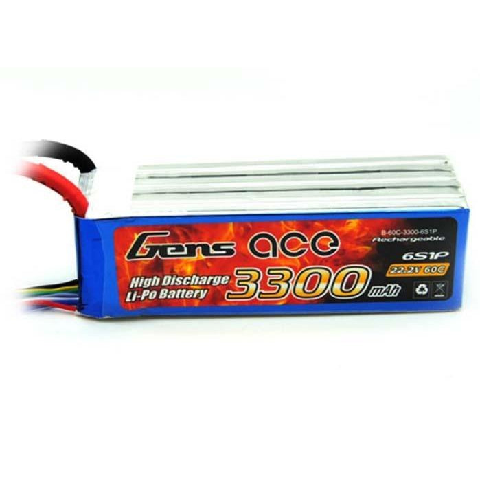 GENS ACE 3300MAH 22.2V 60C 6S1P LIPO BATTERY PACK