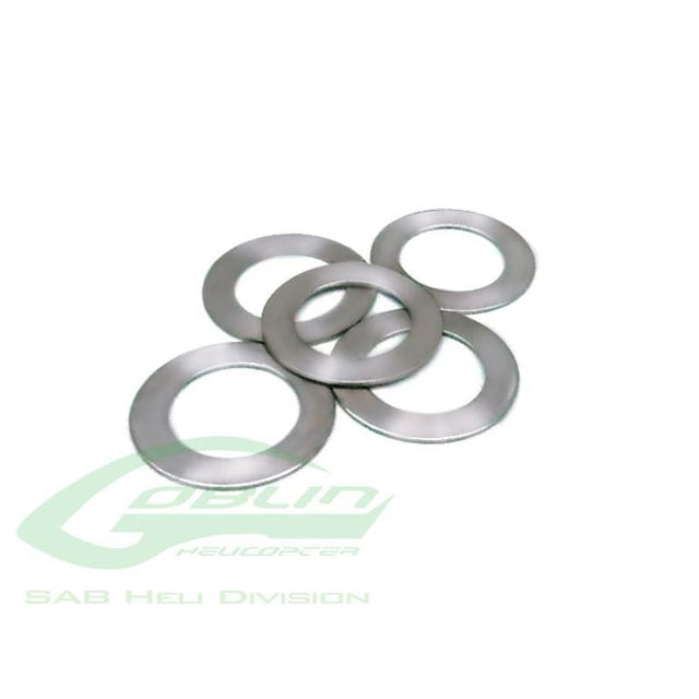 Goblin 500 Steel Shims 10 x 16 x 0,1(5pcs)  HC234-S