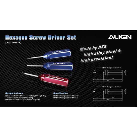 HOT00011 Hexagon Screw Driver Set