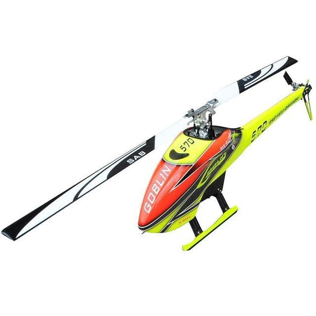GOBLIN 570 YELLOW/ORANGE (with blade and tail blade) SG570
