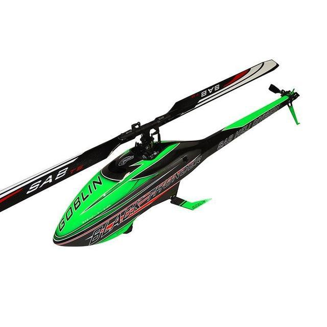 SG712 - GOBLIN BLACK THUNDER 700 GREEN/CARBON (WITH THUNDERBOLT MAIN AND TAIL BLADES)