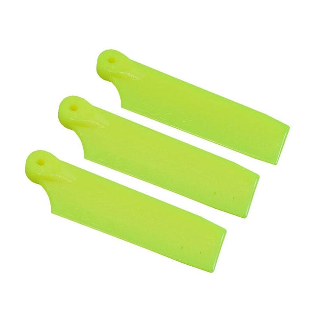 SP-OXY3-102-4 - OXY3 - 3X Tail Blade 47mm - Yellow-Mad 4 Heli