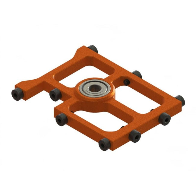 SP-OXY3-116 - OXY3 TE- Middle Main Shaft Bearing Block, Orange (D)-Mad 4 Heli