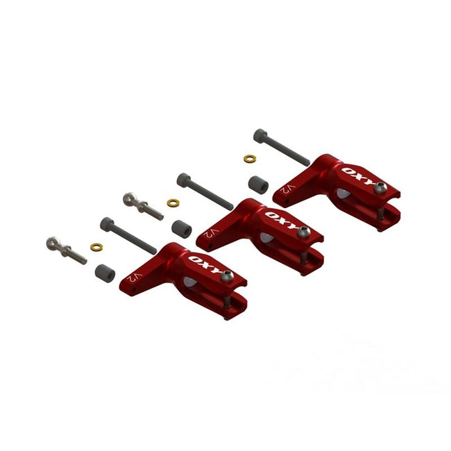 SP-OXY3-270 OXY3 - Pro Edition Main Grip-Red, 3Pcs-Set (D)-Mad 4 Heli