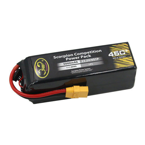 Scorpion Power 5000mAh 45C 22.2V 6S with EC5