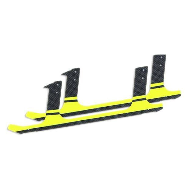 H0107-S Carbon fiber landing gear - Yellow (2pcs) - Goblin 700