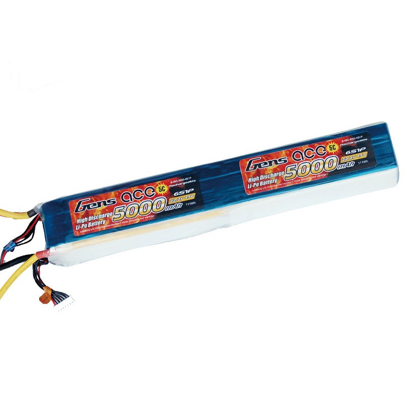 GENS ACE 5000MAH 44.4V 45C 12S1P LIPO BATTERY PACK