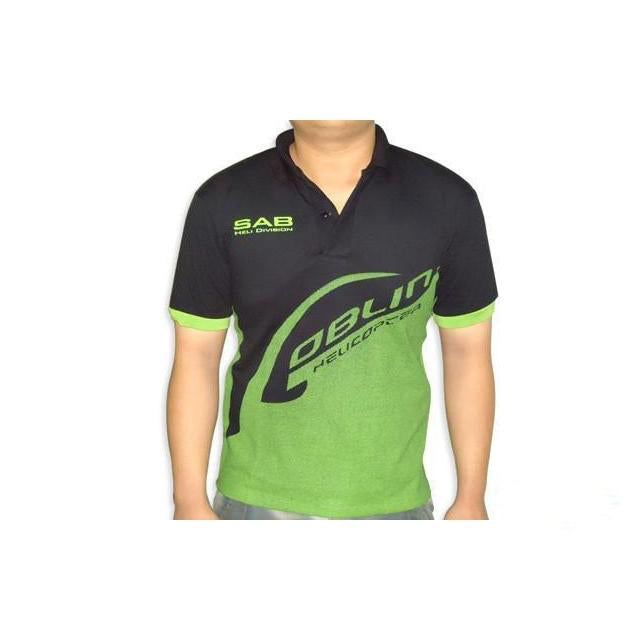 HM019-S SAB HELI DIVISION Black Polo - Size S-Mad 4 Heli