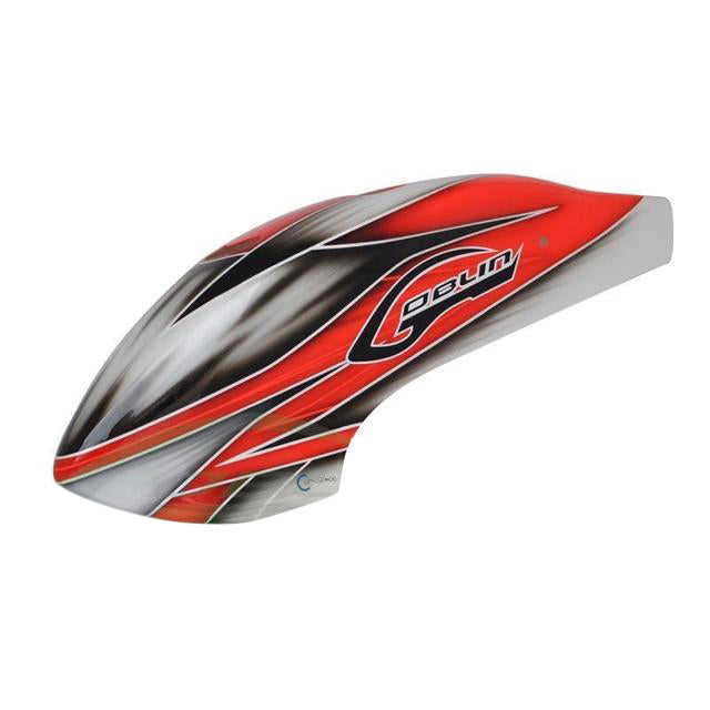 H0271-S Goblin 500 Canomod Airbrush Canopy Red/White-Mad 4 Heli