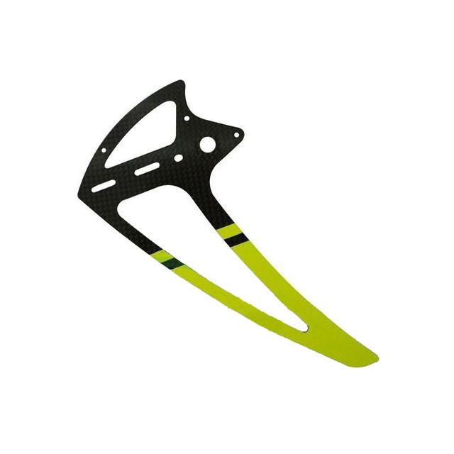 H0242-S Goblin 500 Carbon Fiber Tail Fin Yellow-Mad 4 Heli