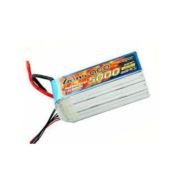GENS ACE 5000MAH 22.2V 60C 6S1P LIPO BATTERY PACK-Mad 4 Heli