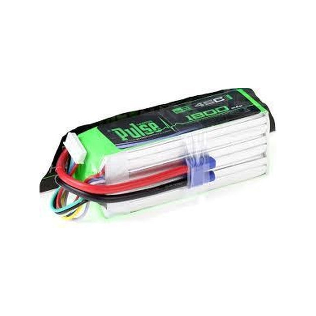 PLU45-18006 - PULSE LIPO 1800mAh 22.2V 45C- ULTRA POWER SERIES (Goblin 380 or similar) PLU45-18006
