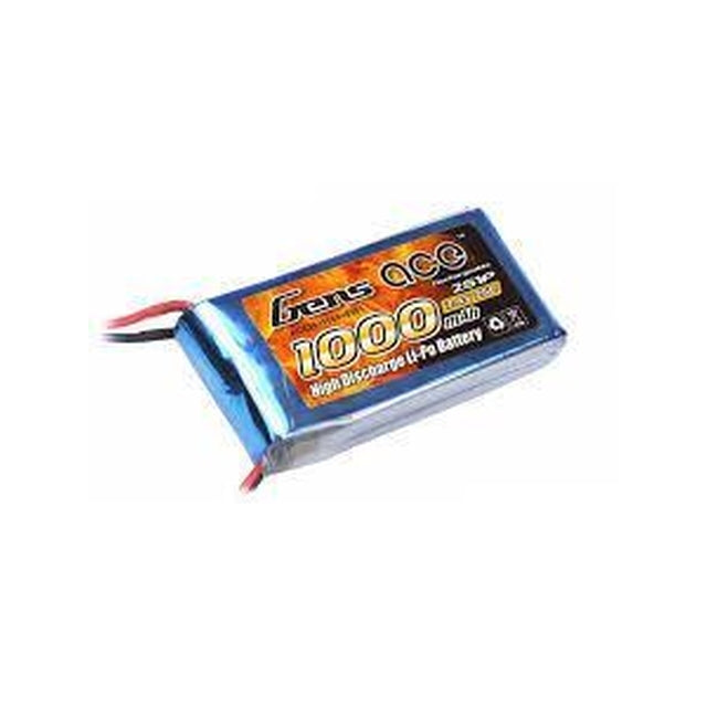 GENS ACE 1000mAh 7.4V 25C 2S1P LIPO BATTERY PACK-Mad 4 Heli
