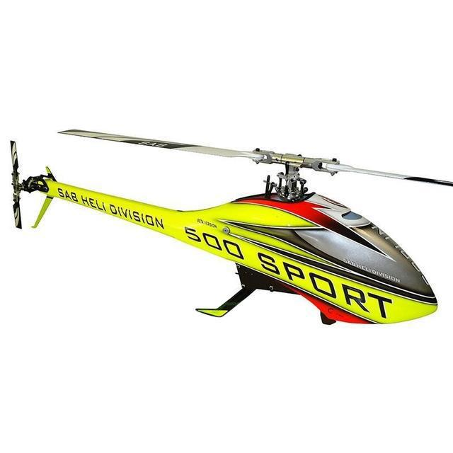 SG508 - GOBLIN 500 SPORT YELLOW/RED-Mad 4 Heli