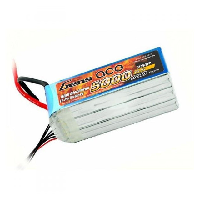 GENS ACE 5000mAh 25.9V 60C 7S LIPO BATTERY PACK