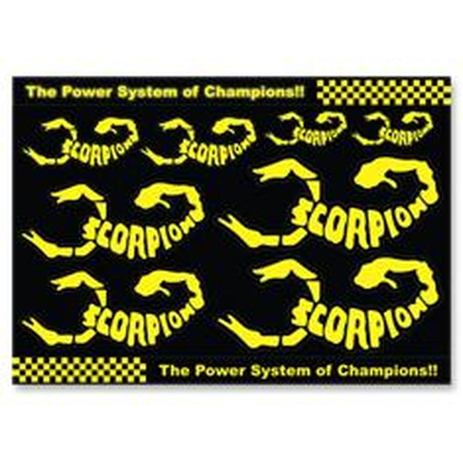 Scorpion Decal Sticker 001 (A4 Size)-Mad 4 Heli