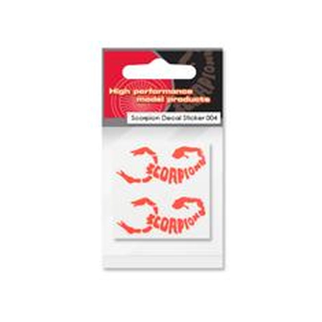 Scorpion Decal Sticker 004 (Orange)-Mad 4 Heli